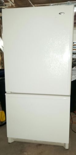 Bisque Amana 26 Cubic Foot Refrigerator Bottom Freezer Pull out Drawer