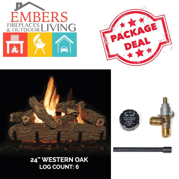 Grand Canyon Gas Logs Builder Series Western Oak Set 24