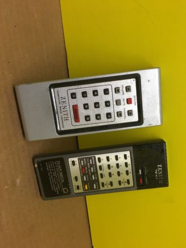 2 Vintage Zenith Computer SPACE COMMAND Tv VCR Remote