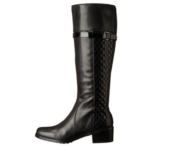 Tahari Killan Wide Calf Women Black Boot Sz 6,5 NEW $199