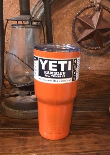 YETI Orange Rambler 30 oz Stainless Steel -NEW ??????