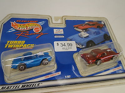 Tyco #96627 Turbo twin pack 1960 Corvette & 1957 T-bird NEW IN PACKAGE