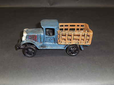 Large Heavy Cast Iron Stake Bed Truck Toy 1930 Arcade (?)