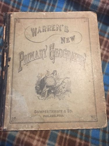 1880 Warren's New Primary Geography Atlas Cowperthwait & Co.  Hand Colored Maps