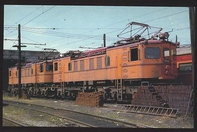 Boxcabs Chicago South Bend Shore 704 703 Commuter Train Railroad Postcard