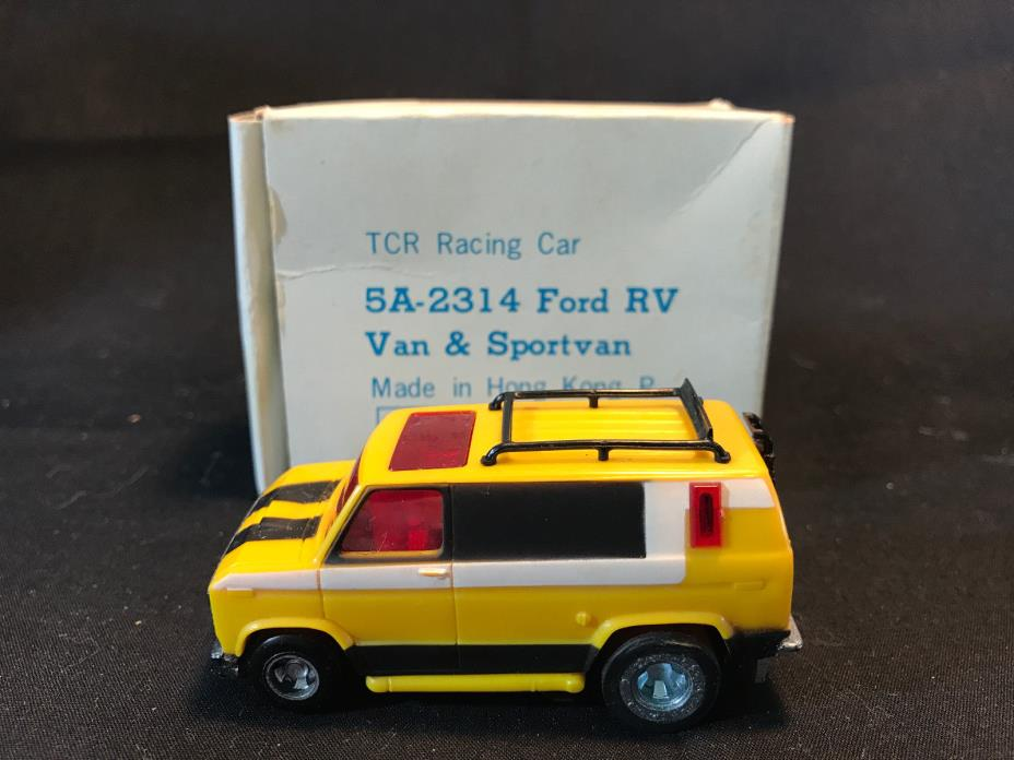 Old Vtg TCR Slot Car 5A-2314 Ford RV Van Sportsvan Toy Hong Kong Original Box
