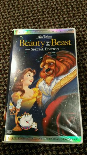 Walt Disney VHS Beauty And The Beast Platinum Special Edition EUC