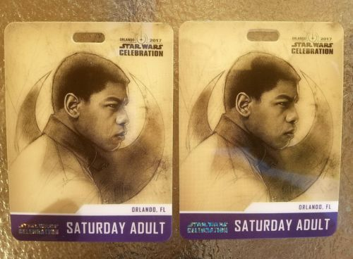 STAR WARS CELEBRATION ORLANDO 2017 SATURDAY BADGES 2 TICKETS SOLD OUT! 4/15