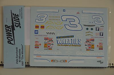 NASCAR Decal #3 Wheaties 1997 by Power Slide 1/24 Scale driven by Dale Earnhardt