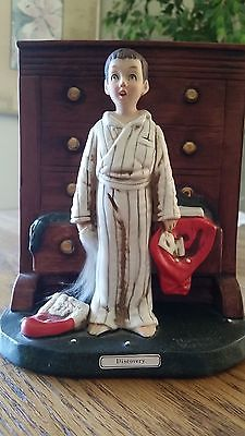 "Norman Rockwell Figurine ""Discovery"" by Dave Grossman NR-20 Signed"
