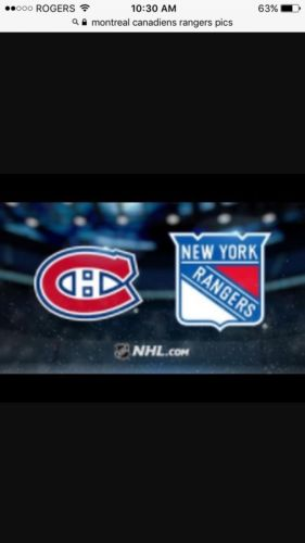 2 Tickets Montreal Canadiens Vs New York Rangers Section 407 PLAYOFFS GAME 1