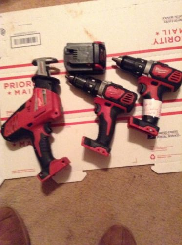 Milwaukee M-18 Lot Of Drill /Driver / Hammer DHackzall Combo Kit