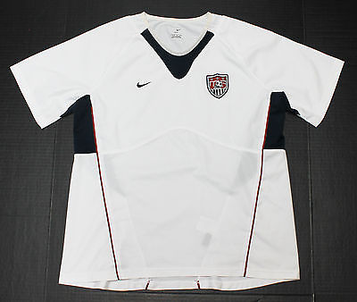 USA Soccer Jersey Nike Womens L 12 14 White Team United States Apparel