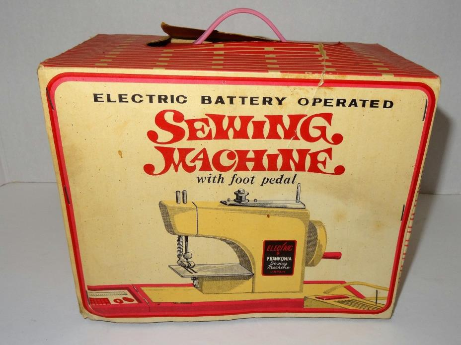 VINTAGE FRANKONIA ELECTRIC BATTERY OPERATED SEWING MACHINE