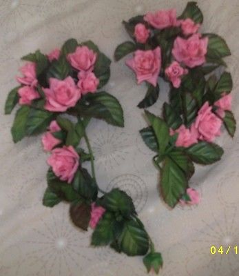 2 - Mini Home Interior Candle Flower Rings  (Rose)  Roses