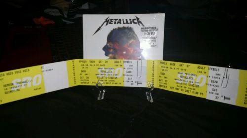 Metallica 2 GA Floor Field Tickets Gillette Stadium Foxborough 5/19