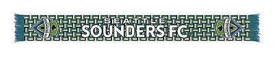 Seattle Sounders FC MLS Ruffneck Blue & Green Link HD Knit Acrylic Scarf