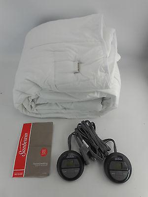 Sunbeam MSU3KQS-P000-12A00 - Vertical Quilted Heated Mattress Pad - Queen