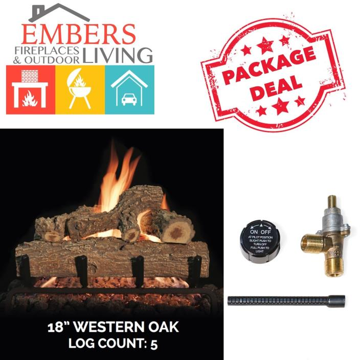Grand Canyon Gas Logs Builder Series Western Oak Set 18