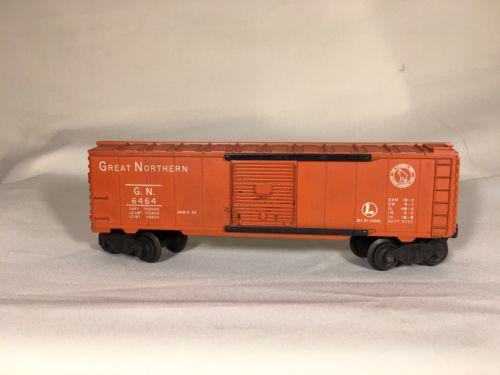 Lionel O Scale Vintage GN-Great Northern Box Car 6464 Light orange Nice Finish