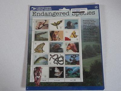 ENDANGERED SPECIES STAMP SHEET --  32 CENT 1995