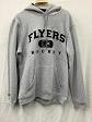 Philadelphia Flyers Grey/Black Letter Mens NHL Jersey Hoodie S
