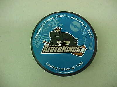 2009 CHL Mississippi Riverkings Elvis Presley Birthday Hockey Puck Limited Ed.