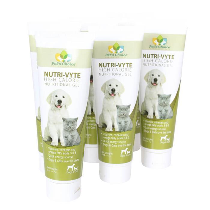 Nutri-Vyte High Calorie Nutrition Gel for Dogs & Cats, 5 oz, 6 pk