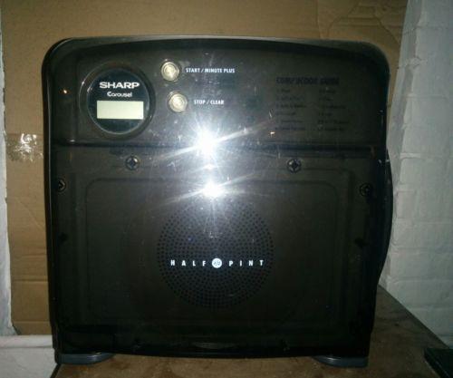 sharp half pint microwave oven. sharp half pint carousel microwave oven white rv dorm office camper r-120db 7