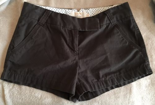 J. Crew Classic Twill Chino Shorts Women's Size 6 Brown