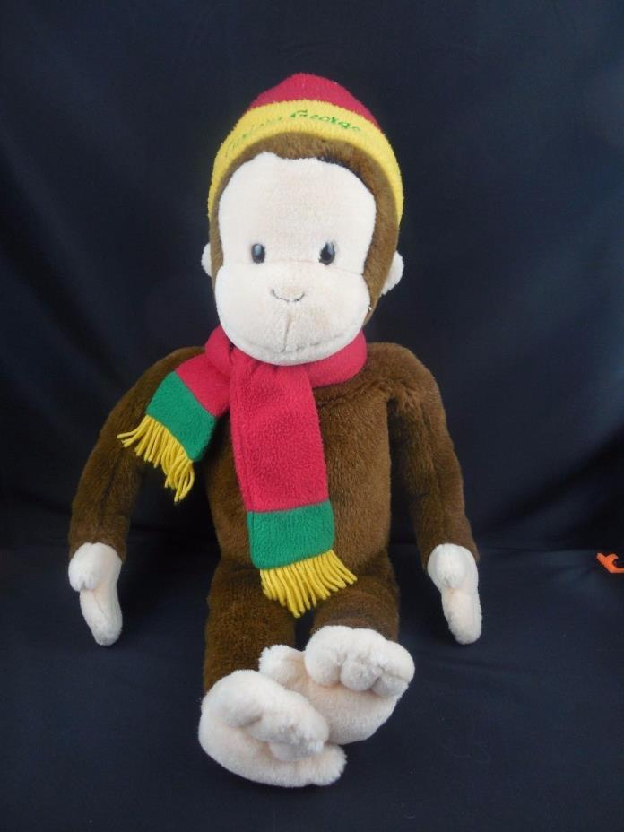 Curious George Monkey with Hat & Scarf for Macy's 26