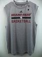 Miami Heat Adidas NBA Basketball Grey Jersey L