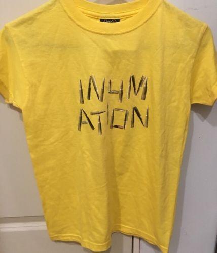 Boys In4mation Ammo Wammo Yellow T-shirt Size XS NEW