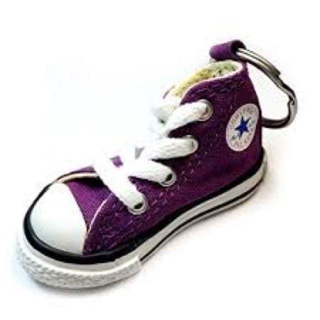 Converse Chuck Taylor Hightop Purple Basketball Shoe Keychain