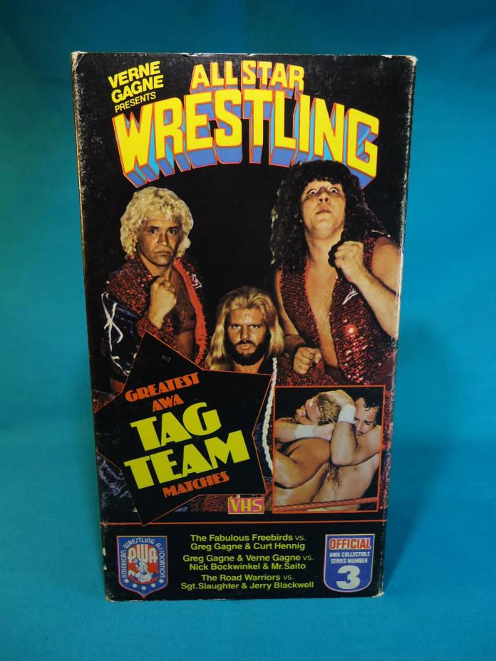 All Star Wrestling Greatest Tag Team Matches VHS Tape(AWA Collectible Series)