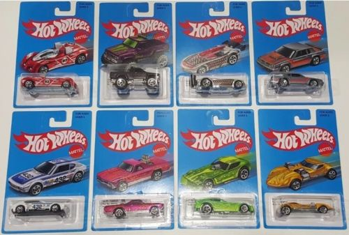 2016 Hot Wheels Retro Series Target Exclusive Complete 8 Car Set