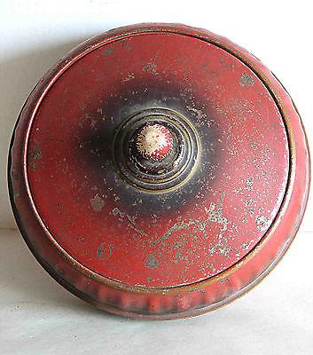 EXCEL MFG Round Metal Vintage Sewing Basket w Tier 8x4