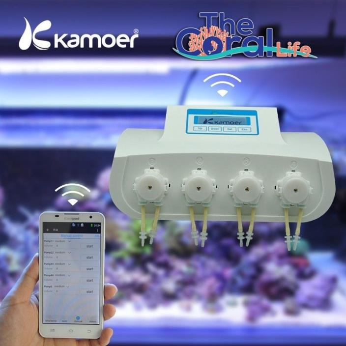 KAMOER X4 WIFI DOSING PUMP UNIT - 4-CHANNEL LIQUID DOSER WITH WIFI CONNECTIVITY