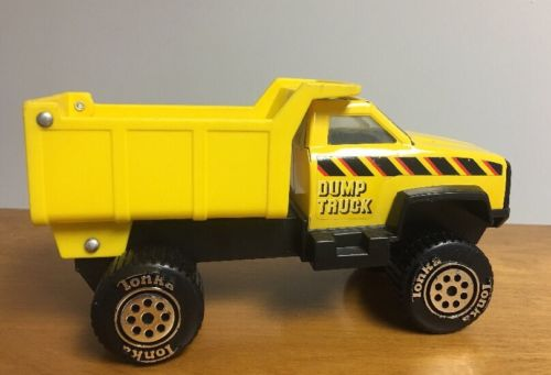 Tonka Yellow Plastic Toy Dump Truck