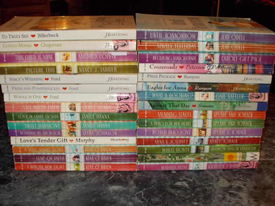 Heartsong Presents contemporary lot of 30 christian paperbacks