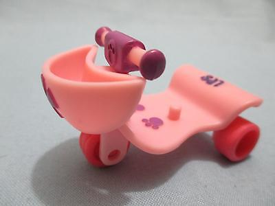 Littlest Pet Shop LPS Pink Motorcycle Scooter w/out Basket