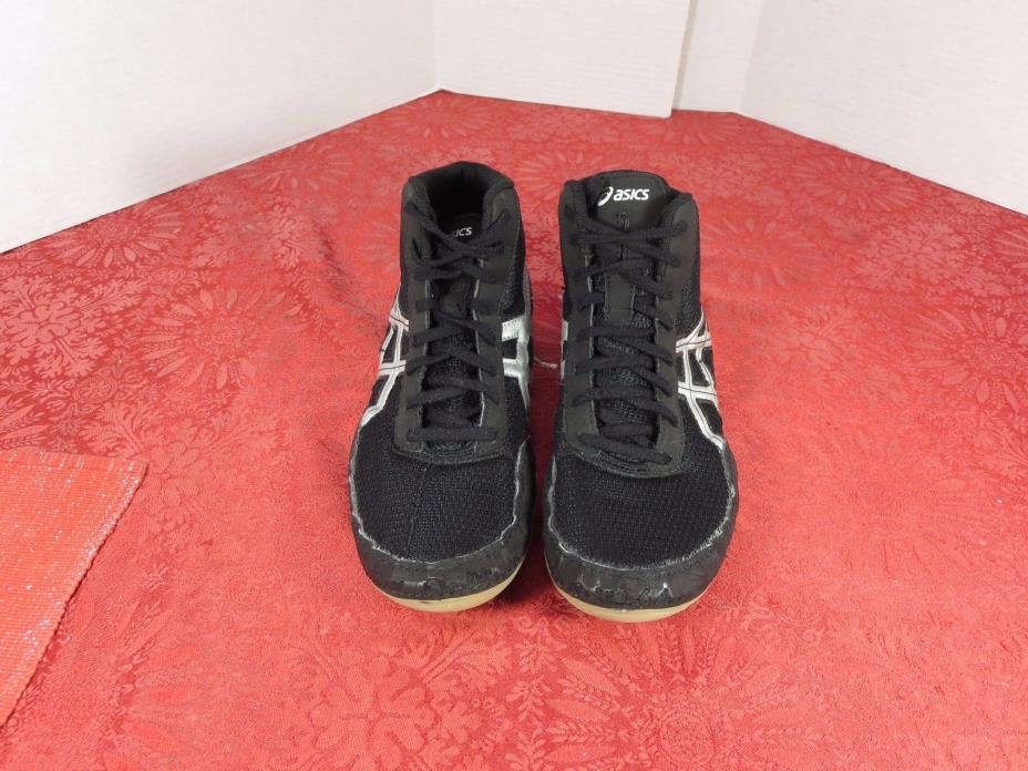 Asics  J504N Matflex 5 Wrestling Mat Black Shoes Men US 8 Euro 39.5