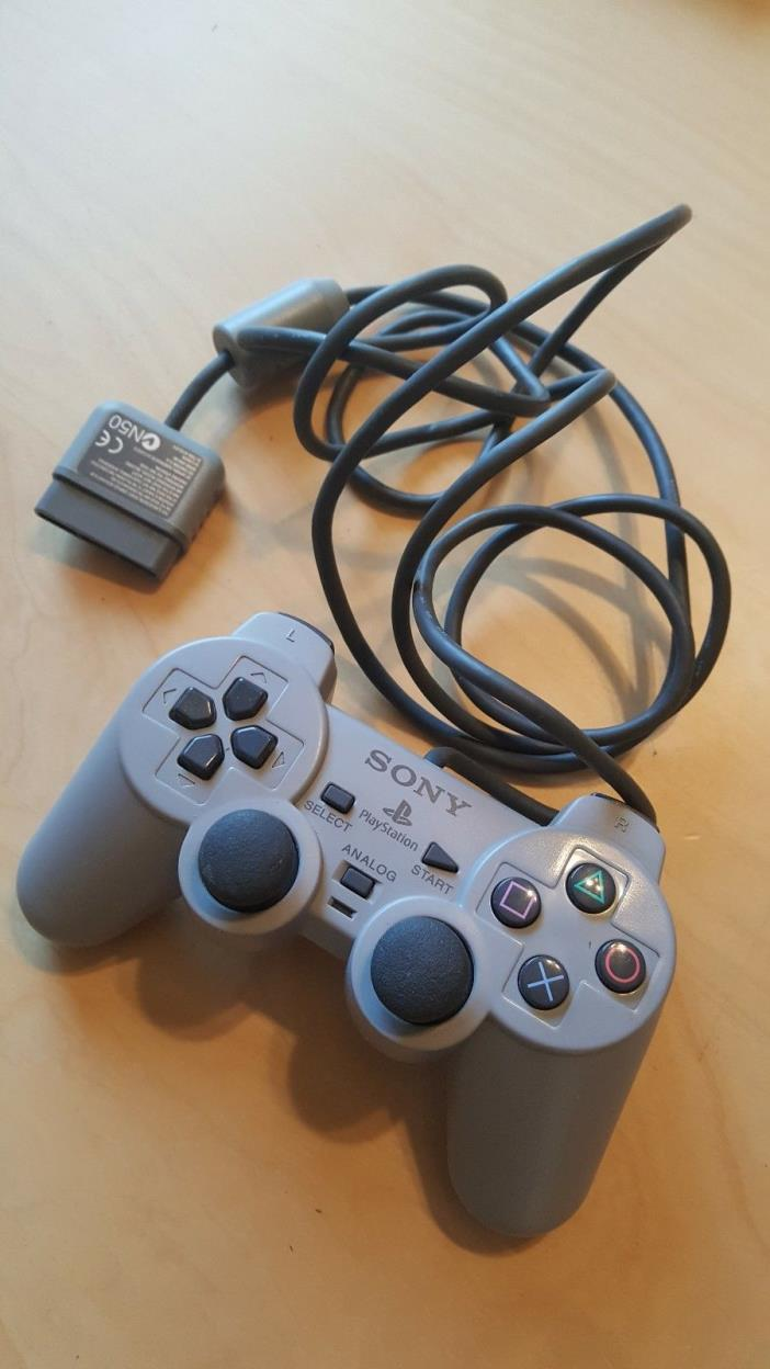 Official Sony Playstation 1 PS1 DualShock Controller Gray