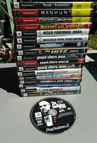 Playstation 2 PS2 games lot (18 games)