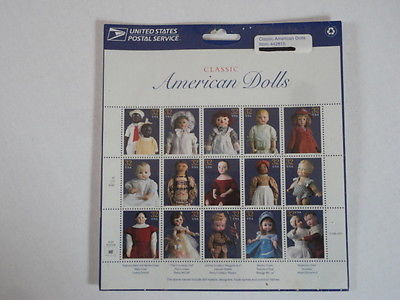 Classic American Dolls 32¢ Stamp Sheet