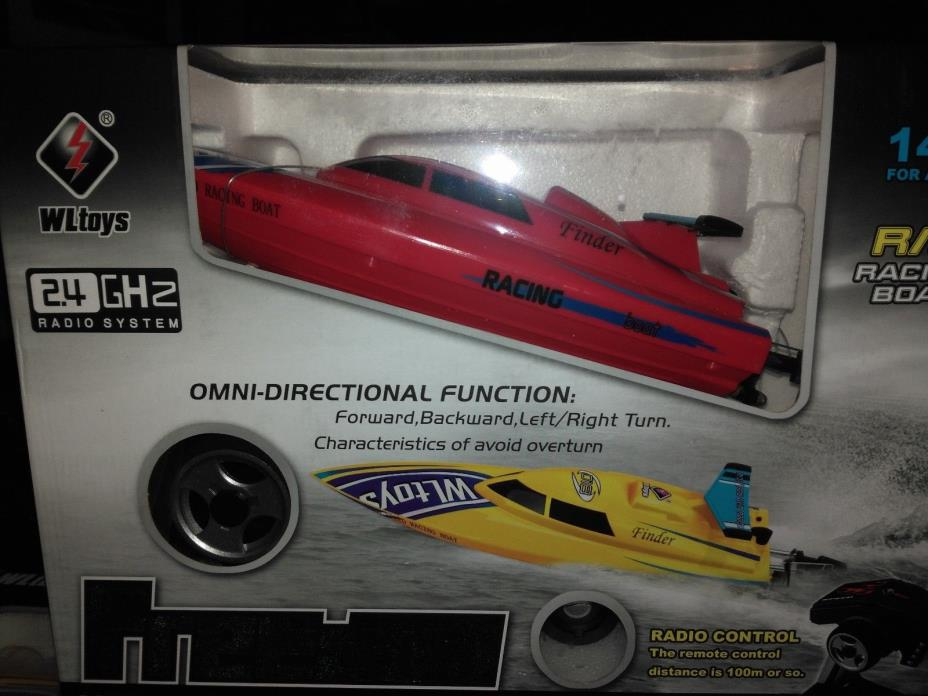 WLtoys WL911 4CH 2.4G Wireless Remote RC Boat - Red - US Seller