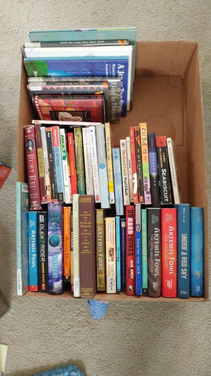 Lot of 48 Middle Grade Books: Lit/Nonfic/Poetry/etc. - GREAT CONDITION