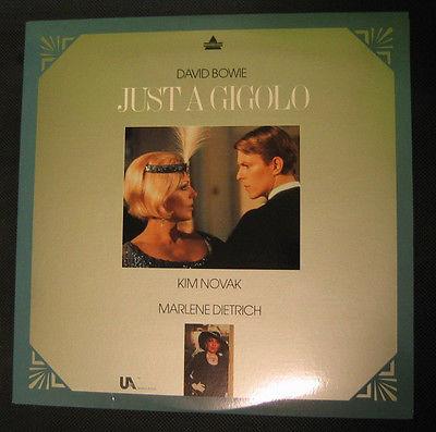 JUST A GIGILO Laserdisc 1978 film DAVID BOWIE KIM NOVAK MARLENE DIETRICH 98 min.