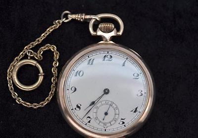 Antique ZENITH 17 Swiss Jewels Pocket Watch~Solid 10K Gold~Nice 96g