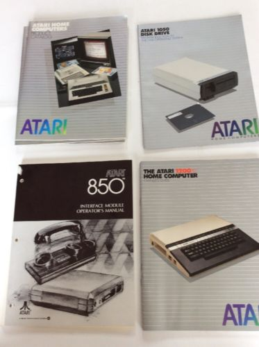 10 Vintage Atari Home Computer Owner's Guides and Product Catalog